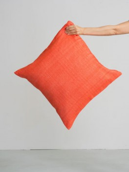 Kissen Korallenrot///Cushion coral red